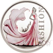 Niue Island WEDDING FASHION series FASHION WORLD $1 Partly colored Silver coin 2013 Proof