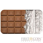 Cook Islands Chocolate $5 Silver Coin Scented 2014