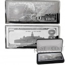 USA 1997 Silver $100 Bill Note Franklin Bar 4 oz