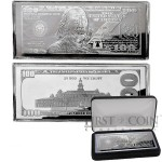 USA 2020 Silver $100 Bill Note Franklin Bar 4 oz