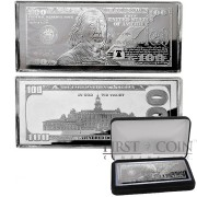 USA 2015 Silver $100 Bill Note Franklin Bar 4 oz