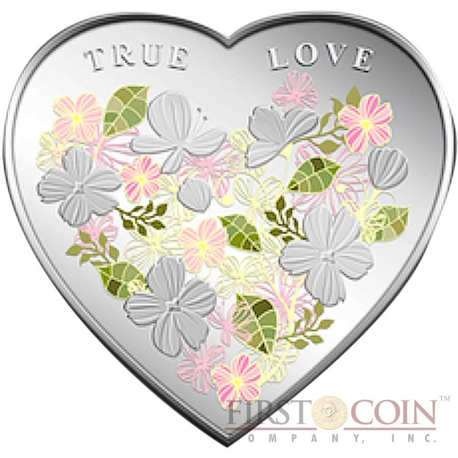 2014 20g PROOF Silver Cook Islands $5 PAINT YOUR COIN First Love Coin.