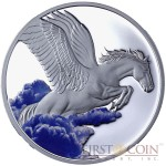 Tokelau Pegasus $5 Creatures of Myth & Legend Colored Silver Coin Year of the Horse Proof 1 oz 2014