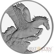 Tokelau Pegasus $5 Creatures of Myth & Legend Silver Coin Year of the Horse Proof 1 oz 2014