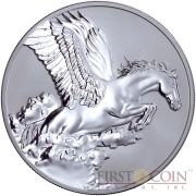 Tokelau Pegasus $5 Creatures of Myth & Legend Silver Coin Year of the Horse Reverse Proof 1 oz 2014