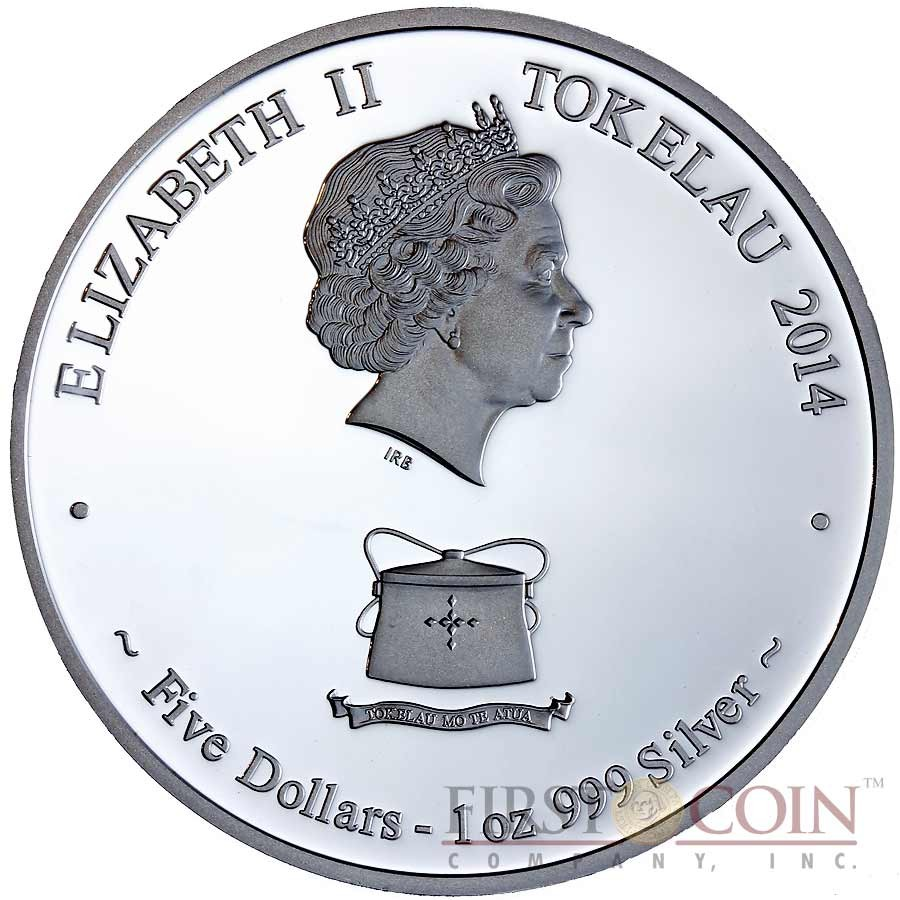 Tokelau Unicorn $5 Creatures of Myth & Legend Silver Coin Year of the Horse Antique Finish 1 oz 2014