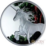 Tokelau Unicorn $5 Creatures of Myth & Legend Silver Coin Year of the Horse COLORED PROOF 1 oz 2014
