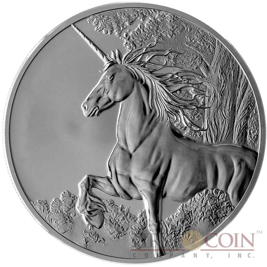 Tokelau Unicorn 5 Creatures Of Myth Amp Legend Silver Coin