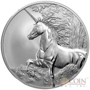 Tokelau Unicorn $5 Creatures of Myth & Legend Silver Coin Year of the Horse Reverse Proof 1 oz 2014