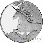 Tokelau Unicorn $5 Creatures of Myth & Legend Silver Coin Year of the Horse PROOF 1 oz 2014