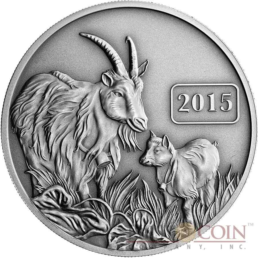 Tokelau Year Of The Goat  5 Lunar Family Series Silver