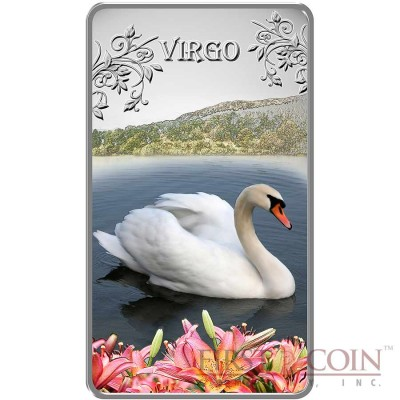 Cook Islands Virgo $1 Zodiac Signs series Colored Silver Rectangular coin Proof 2014