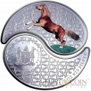 Fiji YEAR OF THE HORSE $2 Series LUNAR CHINESEE CALENDAR 2014 Two Silver Coin set Proof 1.08 oz