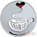 Tokelau LOVE COFFEE $5 Silver Coin 2015 Proof 1 oz