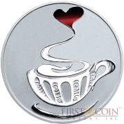 Tokelau LOVE COFFEE $5 Silver Coin 2015 Proof 1 oz