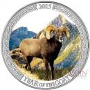 Tokelau MOUNTAIN GOAT $5 Silver Coin 2015 Proof 1 oz