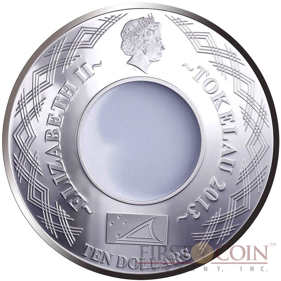 Tokelau YEAR OF THE SNAKE - INFINITY $10 Silver Coin 2 oz 2013