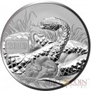 Tokelau YEAR OF THE SNAKE $5 Silver Coin 1 oz 2013