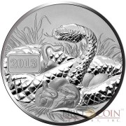 Tokelau YEAR OF THE SNAKE Family $5 Silver Coin 2013 Reverse Proof 1 oz