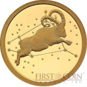 Tokelau ARIES $5 Creatures of Myth & Legend series Gold Coin Year of the Goat Proof 2015