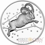 Tokelau ARIES $5 Creatures of Myth & Legend series Silver Coin Year of the Goat Proof 1 oz 2015
