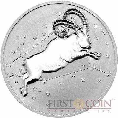 Tokelau ARIES $5 Creatures of Myth & Legend series Silver Coin Year of the Goat Reverse Proof 1 oz 2015