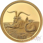 Tokelau Capricornus $5 Creatures of Myth & Legend series Gold Coin Year of the Goat Proof 2015