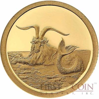 Tokelau Capricornus $5 Creatures of Myth & Legend series Gold Coin Year of the Goat Proof 2015