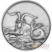 Tokelau Capricornus $5 Creatures of Myth & Legend series Silver Coin Year of the Goat Antique Finish 1 oz 2015
