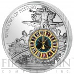 Cook Islands New York Grand Central Terminal 100 Anniversary Windows of History Glass Inlay $10 Silver Coin 50 g 2013