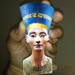 Solomon Islands Nefertiti 3D Sculptures of Art Egypt Queen 3 oz $25 Silver coin 2013