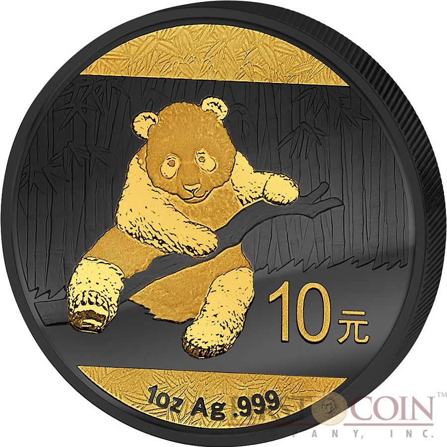 China Chinese Panda Silver Coin 165 10 Yuan Golden Enigma