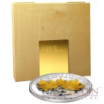 Samoa 3D Gold Maple Leaf $10 Gold Leaves series Silver Coin & Gold Foil Proof 1 oz 2014