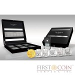 Rwanda Noble 6 The Six Most Precious Metals Coin Set 60 Francs Proof & BU 2014
