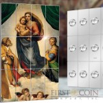 Niue Island SISTINE MADONNA by RAPHAEL series GIANTS OF ART 12 Silver Coin Set $60 Special minting 2014 Colored 960 grams / 31 oz