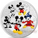 France DISNEY MICKEY MOUSE THROUGH THE AGES €50 Euro Silver Coin 2016 Proof 5 oz