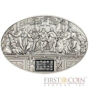Cook Islands RAPHAEL ROOMS $5 Ceilings of Heaven series Innovative NANO CHIP Silver coin Antique finish High relief  2013