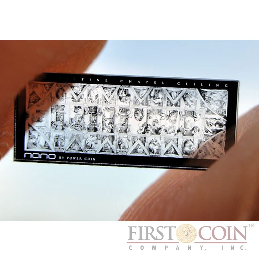 Cook Islands SISTINE CHAPEL 500th Anniversary $5 Ceilings of Heaven series Innovative NANO CHIP Silver coin Antique finish High relief 2012