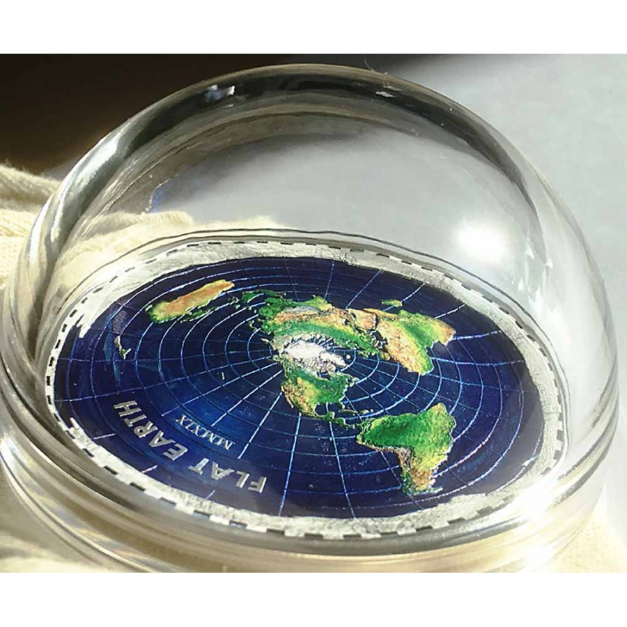 Palau FLAT EARTH series GREAT CONSPIRACIES $10 Silver Coin 2019 Proof 2 oz