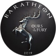 USA GAME OF THRONES I - BARATHEON OURS FURY GOT American Silver Eagle 2019 Walking Liberty $1 Silver coin 1 oz