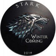 USA GAME OF THRONES I - STARK WINTER COMING GOT American Silver Eagle 2019 Walking Liberty $1 Silver coin 1 oz