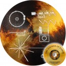 Cook Islands SPACECRAFT VOYAGER GOLDEN RECORD - SOUNDS OF EARTH $2 Silver Coin 2020 Record Grooves shape Proof Gold plated