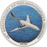 Cook Islands MIRACLE ON THE HUDSON RIVER INCIDENT 10 Years $1 Silver Coin 2019 Proof