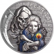 Palau LITTLE MATCH GIRL series FEAR TALES $10 Silver Coin Antique finish 2020 Ultra High Relief 2 oz