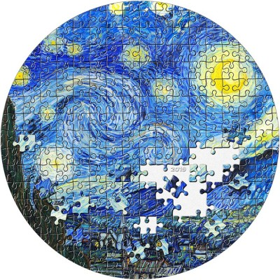 Palau STARRY NIGHT by VAN GOGH series MICROPUZZLE TREASURES $20 Silver Coin 2019 Proof 3 oz