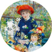 Palau TWO SISTERS by RENOIR series MICROPUZZLE TREASURES $20 Silver Coin 2020 Proof 3 oz
