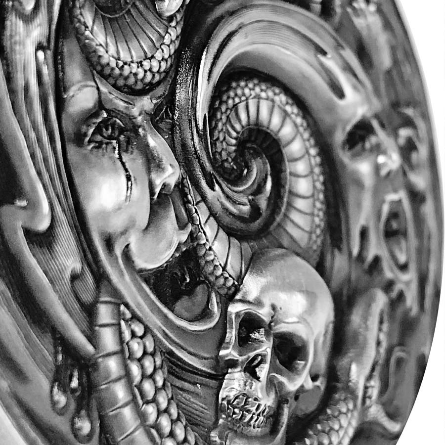 Republic of Palau PANDORA'S BOX series EVIL WITHIN Silver coin $20 Antique finish 2019 Ultra high relief 3 oz