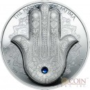 Palau THE HAND OF FATIMA THE HAMSA THE HAND OF GOD Silver Coin $10 Innovative Smartminting technology 2016 High relief Proof 2 oz