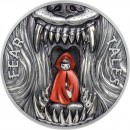 Palau LITTLE RED RIDING HOOD series FEAR TALES $10 Silver Coin Antique finish 2019 Ultra High Relief 2 oz