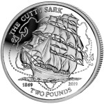 British Indian Ocean Territory CUTTY SARK 150th ANNIVERSARY £2 Silver coin Proof 2019